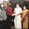 Sun network donates ten crores to Tamilnadu CM Relief Fund