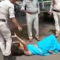 police beats woman in madhya pradesh