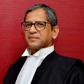 Justice NV Ramana arrives Hyderabad