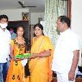 Telangana minister Koppula Eshwar helps a poor girl