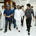 Tollywood heroes Chiranjeevi and Nagarjuna met CM KCR at Pragathi Bhavan