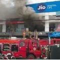 Huge fire accident in Reliance Showroom in Vijayawada