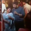 Chiranjeevi and his wife dances in Niharikas Sangeet function