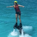 Rakul Tried Fly Board in Maldives