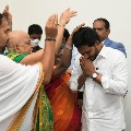 Priests from TTD and Kanakadurga temple blesses CM Jagan on new year day