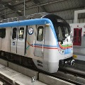 Metro Rail in Hyderabad suddenly stopped on tracks
