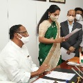 Kalvakuntla Kavitha has taken oath as MLC