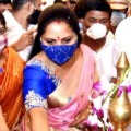 Kavitha inaugurates showroom in Ameerpet