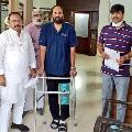 Telangana Congress Chief Uttam Kumar Reddy injured