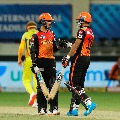 Sunrisers posts once again respectable score against Chennai Super Kings