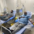 MM Keeravani myself and my son donated plasma for second time at KIMS