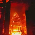 AP Minister Venu Gopalakrishna visits Antarvedi after a chariot burned to ash