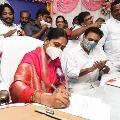 sunita takes oath as woman commision chair person