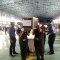 Army officials moves Col Santosh mortal remains to Suryapet
