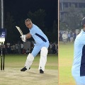 telangana minister Harish Rao got 18 runs in 12 balls