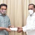 Telangana Legislative members donates for purchasing ambulances