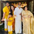 Diwali celebrations at Rajinikanth house