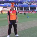 Sunrisers won the toss and elected field first