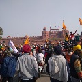 Farmers agitation at Red Fort in Delhi