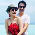 Kajal and Gautam Enjoing Honeymoon at Mal Dives