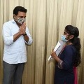KTR helps IIT student Anjali