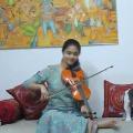 Keerthi Suresh plays violin as a tribute for Hero Vijay birthday
