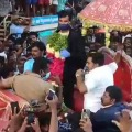 Villagers welcomes for Team India bowler Natarajan