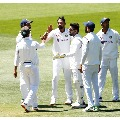 India target 70 runs in second test