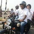 vijaya sai participates in bike rally