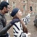 Prabhas selfies with Bollywood choreographer Vaibhavi Merchant