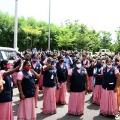 AP Secretariat sweepers protest against govt