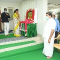 YCP leader RK Roja consoles Tamilnadu CM Palanisamy