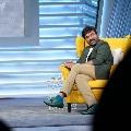Megastar Chiranjeevi attends to SamJam shoot