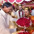 CM KCR attends to Goreti Venkanna daughter wedding