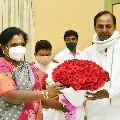 KCR meets governor Tamilisai