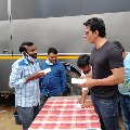 Sonu Sood gifted mobile phones to Acharya unit labor
