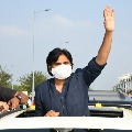 Grand welcome for Pawan Kalyan in Tirupati airport