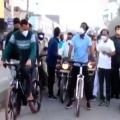 Telangana minister Puvvada cycle tour in Khammam