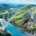 Worlds highest railway bridge under construction on Chenab river