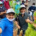 Chiranjeevi and Pawan Kalyan participates in Green India Challenge