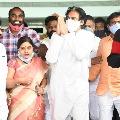 Pawan Kalyan arrives Renigunta airport