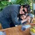 urstrulyMahesh  with son GautamGhattamaneni  Adorable