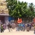 VHP and Bhajrangdal protests AP Ministers at Antarvedi