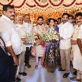 AP CM Jagan attends YCP MLA Karanam Dharmasri daughter marriage