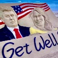 Sudarsan Pattnaik wishes speedy recovery for Donald Trump and Melania with sand art