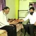 Chiranjeevi Met Senior Journalist Rammohan