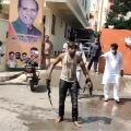 BJP karyakrtha ties to self immolation at state BJP office in Hyderabad