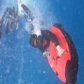 pranita adventure in sea