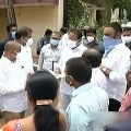 AP Ministers gives checks to family members of  Swarna Palace victims