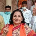 Chetan Chauhans wife Sangeeta Chauhan of BJP wins